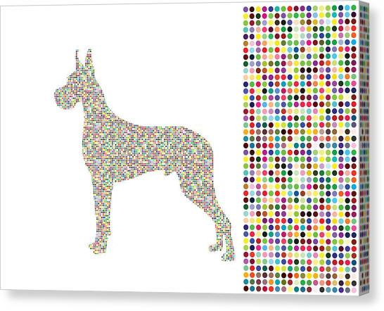 Dane Dots Canvas Print