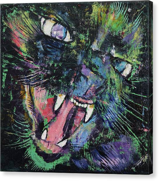 Ticks Canvas Print - Ferocious by Michael Creese