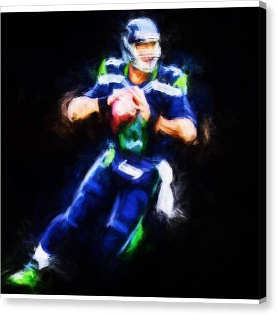Sports Canvas Print - @dangerusswilson @seahawk.city by David Haskett II