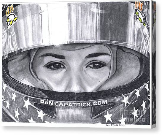 Racecar Drivers Canvas Print - Danica Patrick by Gil Fong
