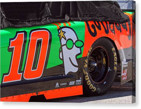 Danica Patrick Canvas Print - Danica Patrick Go Daddy Race Car by Juergen Roth