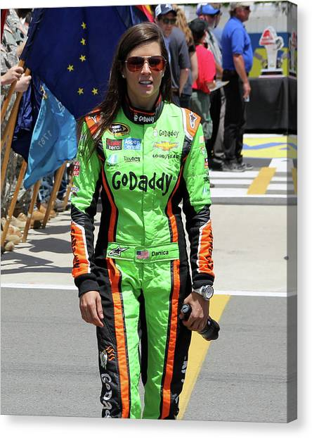 Danica Patrick Canvas Print - Danica Patrick by Mark A Brown