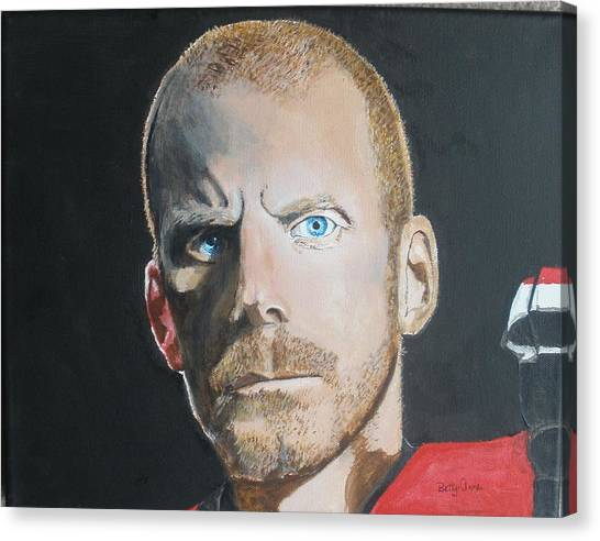 Ottawa Senators Canvas Print - Daniel Alfredsson by Betty-Anne McDonald
