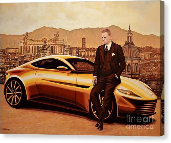 Production Canvas Print - Daniel Craig As James Bond by Paul Meijering