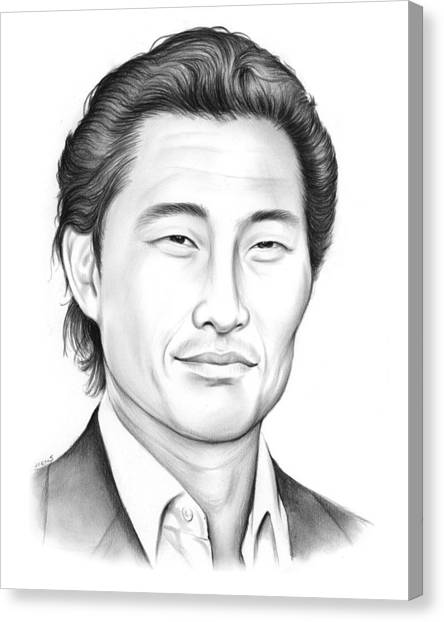 Chin Canvas Print - Daniel Dae Kim by Greg Joens