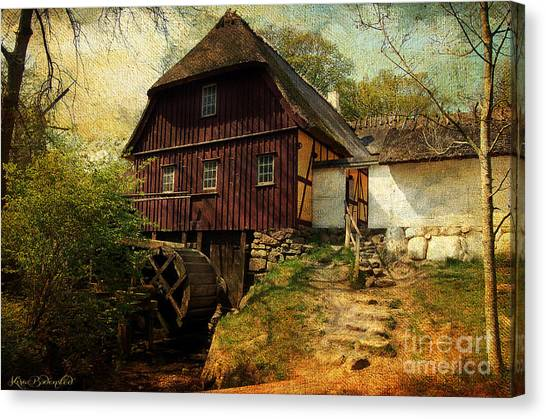 Danish Watermill Anno 1600 Canvas Print