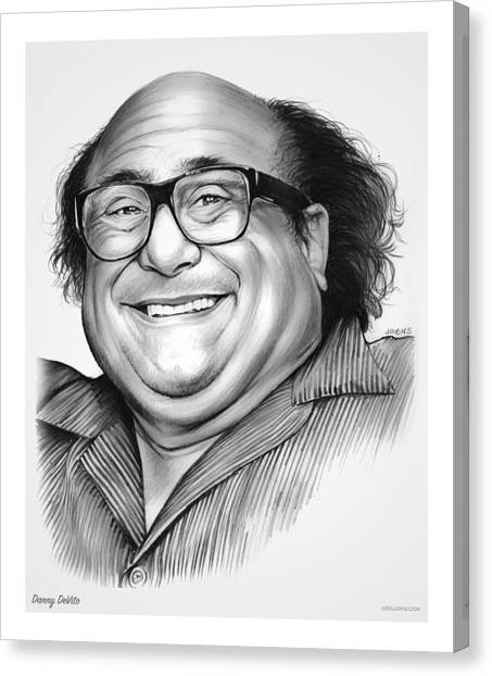 Money Canvas Print - Danny Devito by Greg Joens