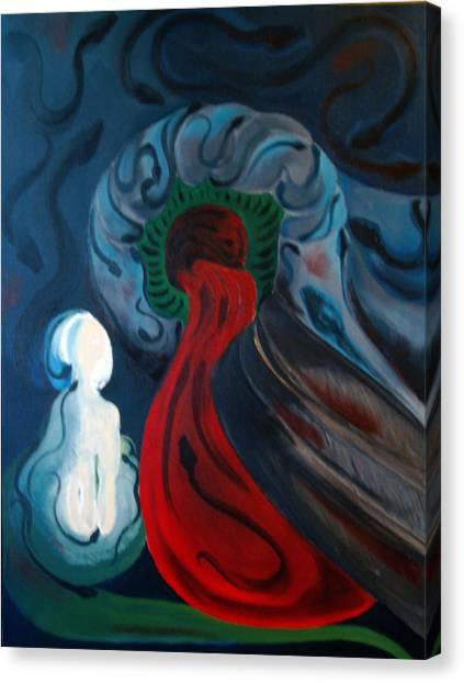 Dante Canvas Print by DeLa Hayes Coward