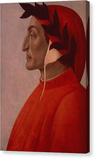 Botticelli Canvas Print - Dante by Sandro Botticelli