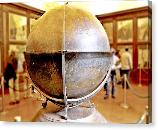 The Uffizi Gallery Canvas Print - Danti's Terrestrial Globe  by Mary Pille