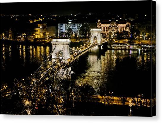 Danube Chain Bridge Canvas Print