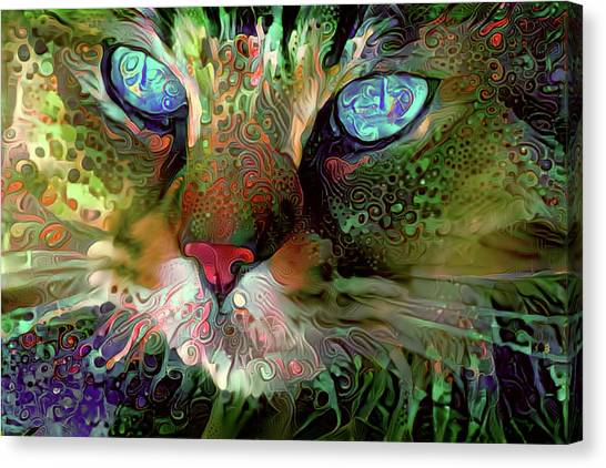 Darby The Long Haired Cat Canvas Print
