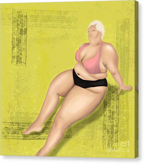 Canvas Print featuring the digital art Dare To Wear by Bria Elyce