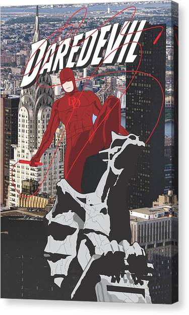 Ben Affleck Canvas Print - Daredevil by Troy Arthur Graphics