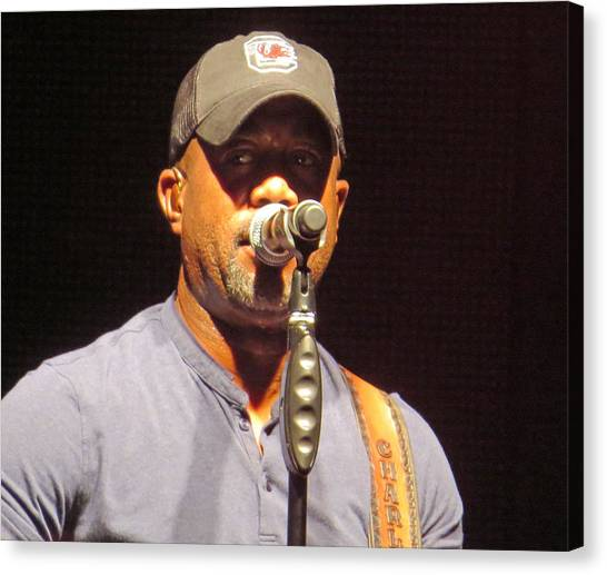 Darius Rucker Live Canvas Print