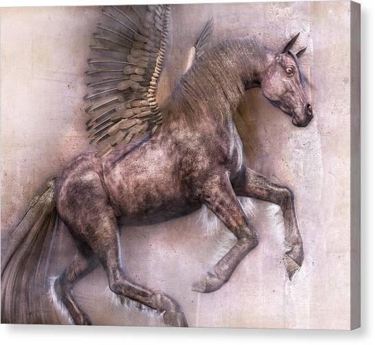 Pegasus Canvas Print - Dark Angel by Betsy Knapp