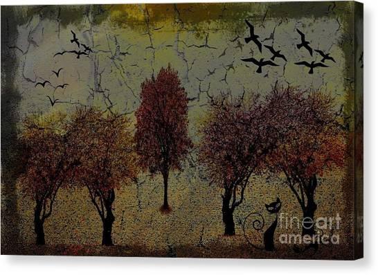 Dark Autumn Night Canvas Print