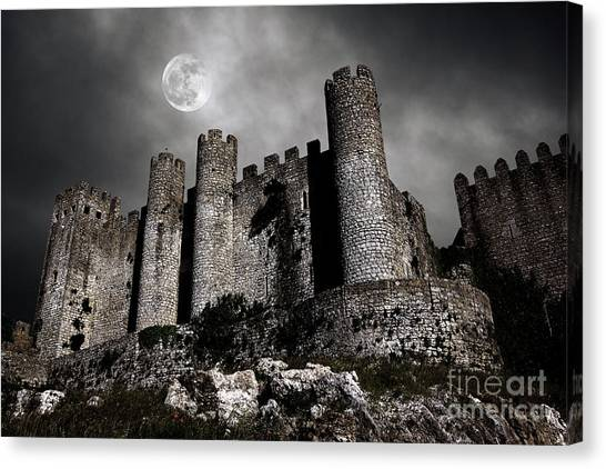 Moon Canvas Print - Dark Castle by Carlos Caetano