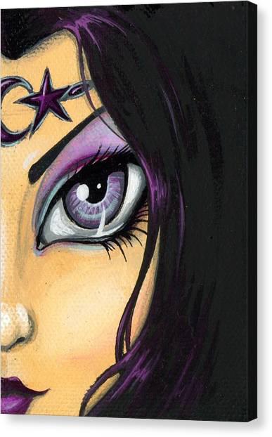 Dark Celestial Goddess Canvas Print by Elaina  Wagner