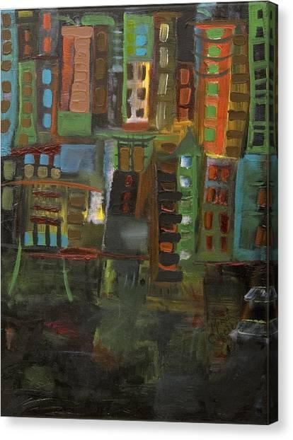 Dark City Canvas Print by Maria Curcic