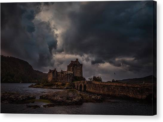 Canvas Print featuring the photograph Dark Clouds #h2 by Leif Sohlman