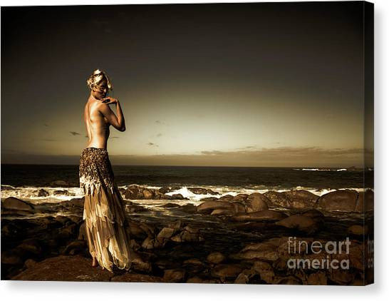 Dark Dramatic Fine Art Beauty Canvas Print