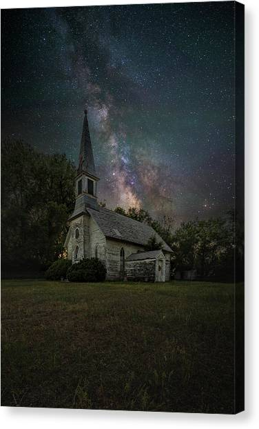 Canvas Print featuring the photograph Dark Enchantment  by Aaron J Groen