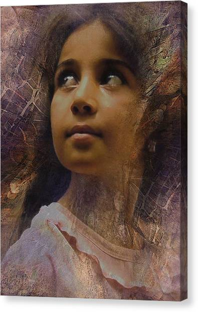 Dark Eyed Beauty Canvas Print