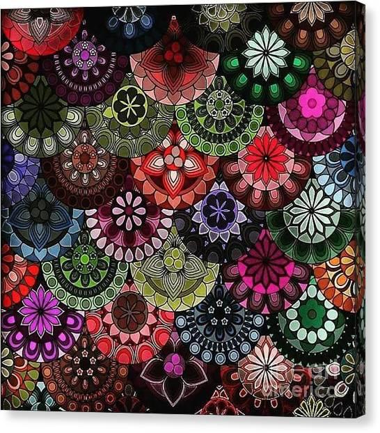 Canvas Print - Dark Flower by Lisa Marie Towne