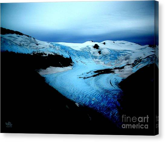 Dark Glacier Canvas Print