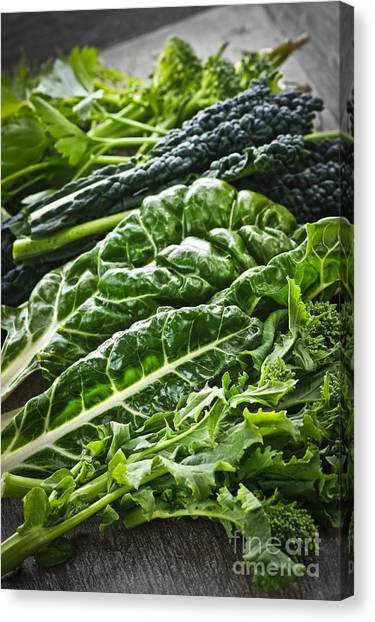 Broccoli Canvas Print - Dark Green Leafy Vegetables by Elena Elisseeva