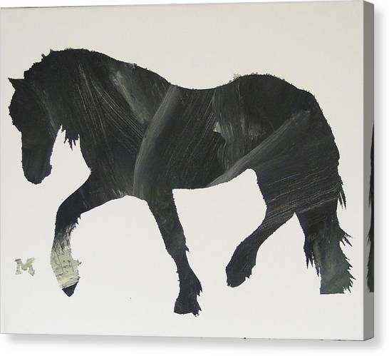 Dark Horse Coming Canvas Print