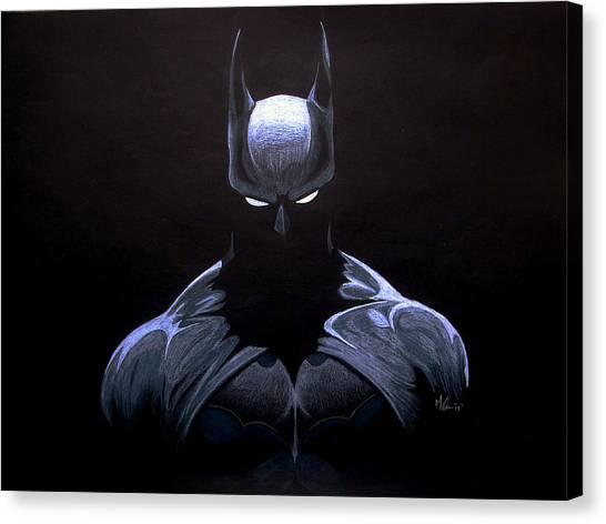 Ben Affleck Canvas Print - Dark Knight by Marcus Quinn