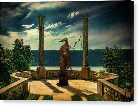 Canvas Print featuring the photograph Dark Magic At Sunset By The Hudson by Chris Lord