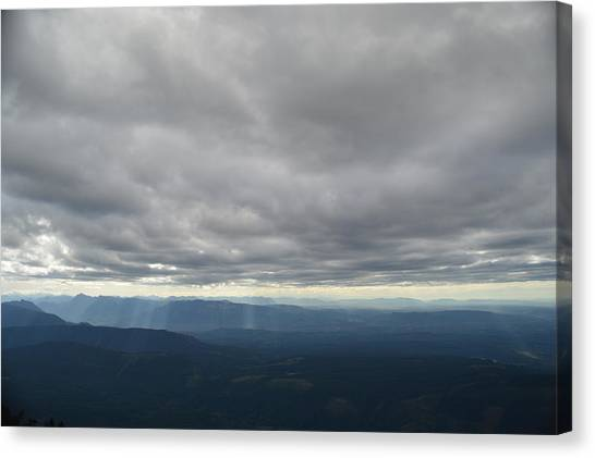 Dark Mountains Canvas Print