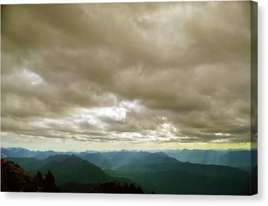 Dark Mountains Too Canvas Print