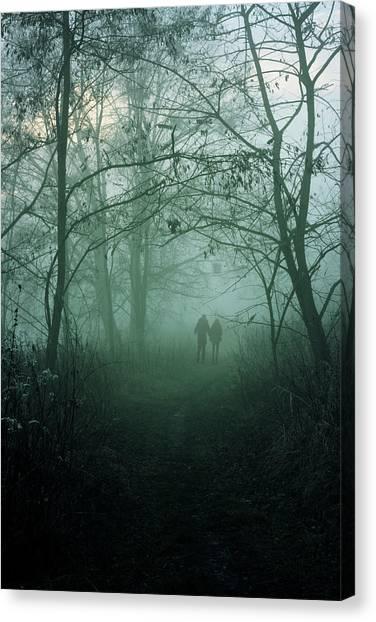 Foggy Canvas Print - Dark Paths by Cambion Art
