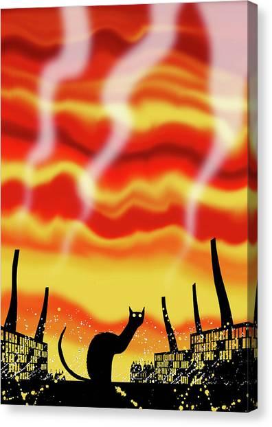 Industry Canvas Print - Dark Satanic Mills  by Andrew Hitchen
