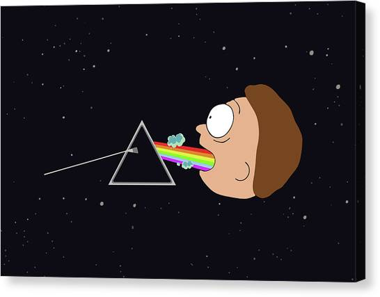 Canvas Print featuring the digital art Dark Side Of The Morty by Rick And Morty