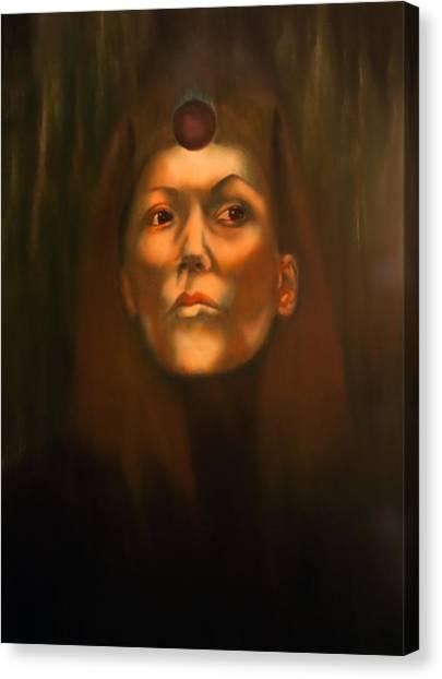 Dark Sister Of The Black Sun Cult Canvas Print