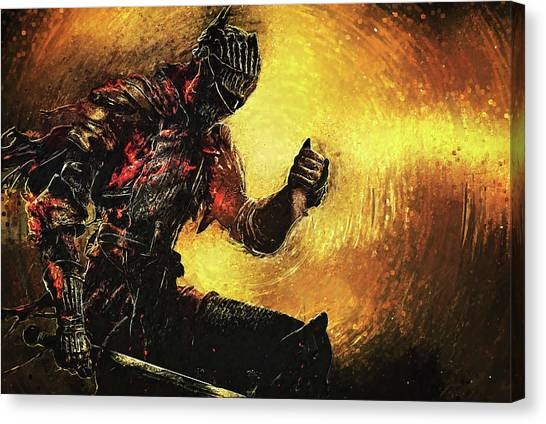Xbox Canvas Print - Dark Souls by Taylan Soyturk