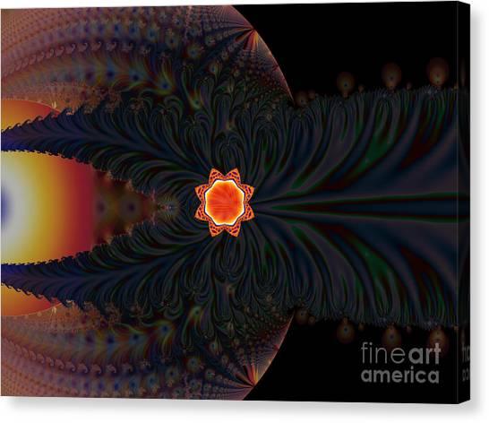 Dark Space Fractal  Canvas Print