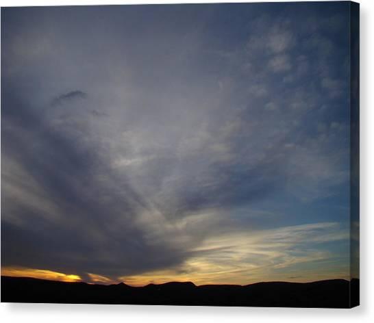 Dark Sunset Four Canvas Print by Ana Villaronga
