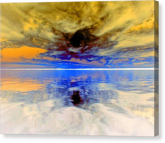 Dark Sunset Canvas Print by James Granberry