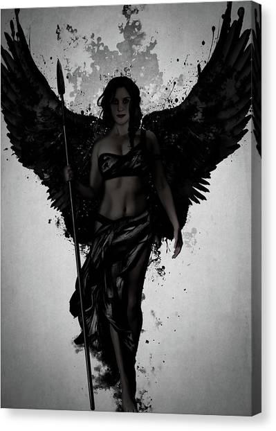 Mythology Canvas Print - Dark Valkyrja by Nicklas Gustafsson