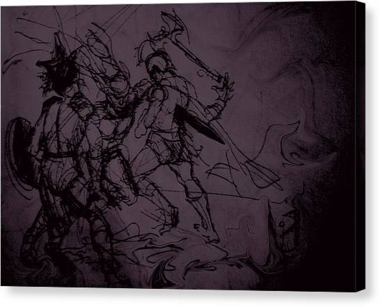 Dark Warriors Canvas Print
