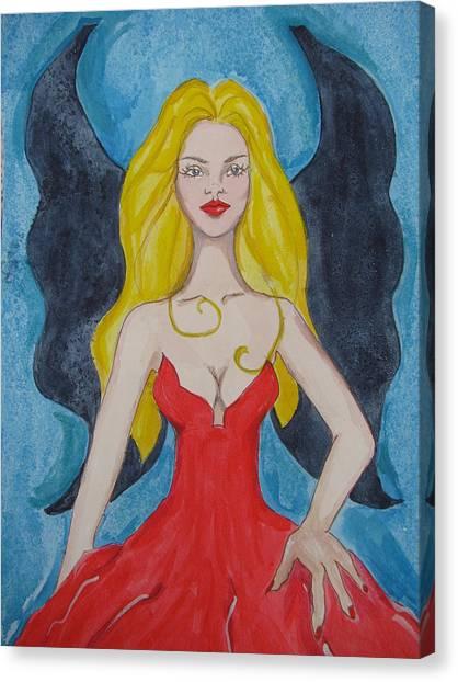 Dark Wings II Canvas Print by Lindie Racz