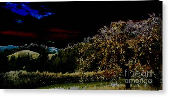 Darkness At The Edge Of Dawn Canvas Print by JoAnn SkyWatcher