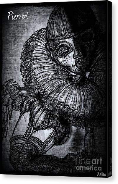 Darkness Clown Canvas Print