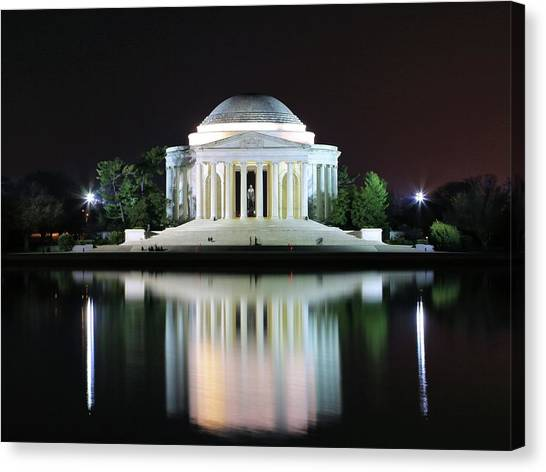 Darkness Over The Jefferson Memorial Canvas Print